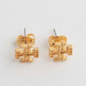 🔥Tory Burch Frosted rivet logo earrings